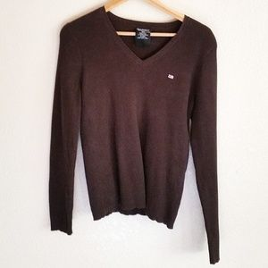Polo Jeans Ribbed V-Neck Pullover Sweater